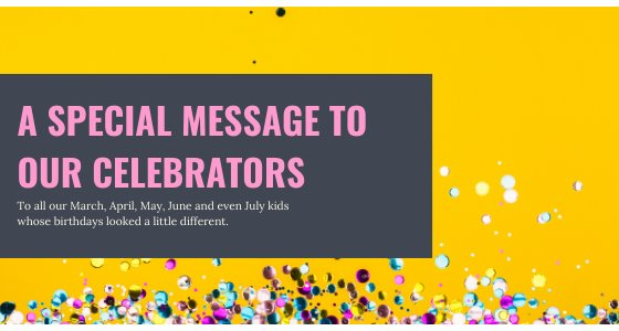 To our celebrators
