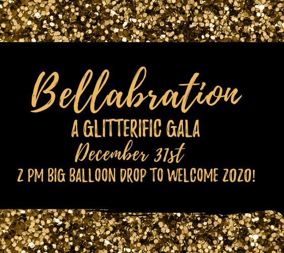 Bellabration December 31 2PM Balloon Drop