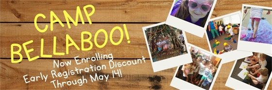 Camp Bellaboo Early Registration through May 14