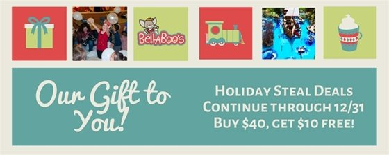 Holiday Deal: $40 gift card gets $10 bonus valid through 12/31